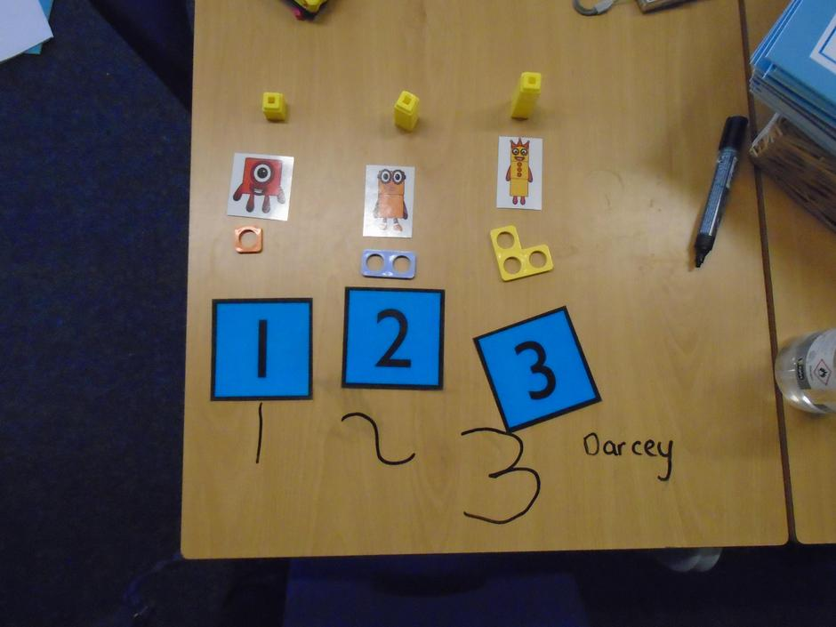 We had a good go at writing our numbers.