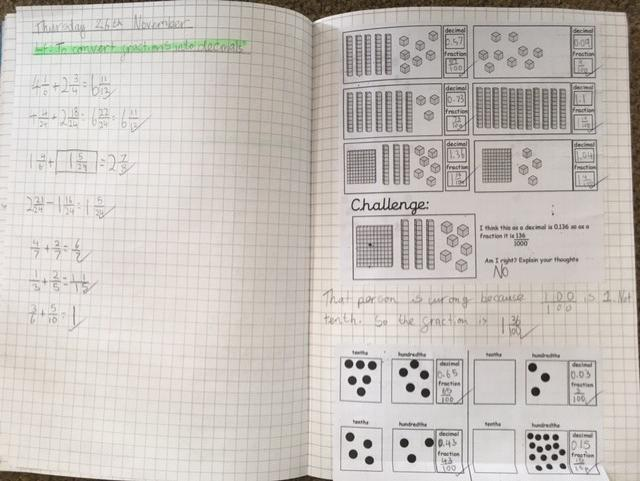 Using a concrete and pictorial approach to explore decimal