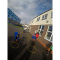 Year 6 Sports Leaders running activities
