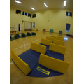 All set up for Year 5 & 6 Indoor Athletics Club