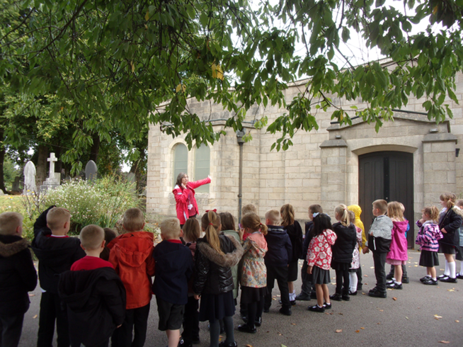 We went for a walk around the local area as part of our enquiry question.