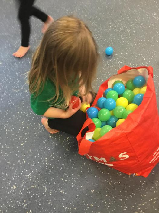 Collecting our coloured balls