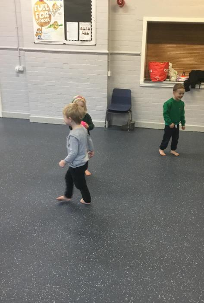 Practising our throwing skills
