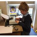Enjoying our new typewriter