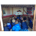 Story time in the Yurt.