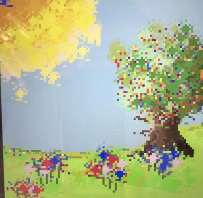 Digital Pixel Art with a weather theme