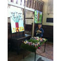 Easter Garden in St Nicholas's Church Pluckley