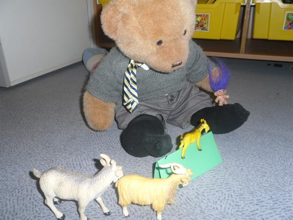 Trevor retelling The 3 Billy Goats Gruff story
