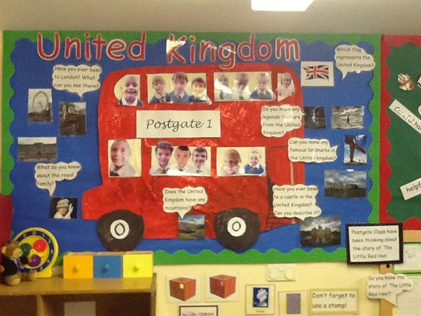 Our United Kingdom display!