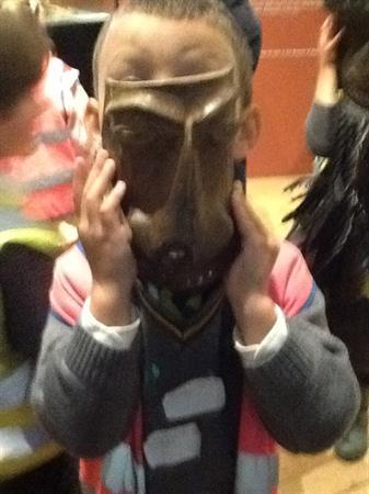 Tribal masks at Maidstone Museum