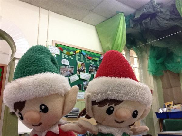 Harrison's elves came to visit...