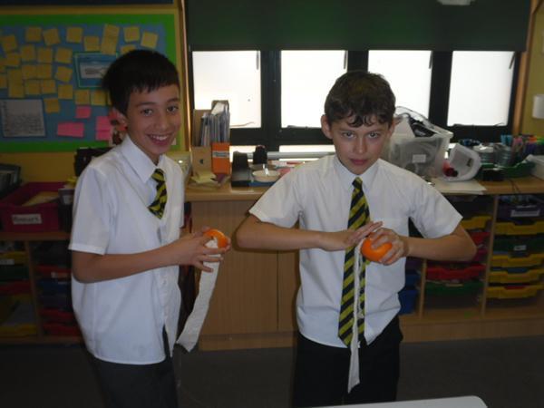 Mummifying an orange