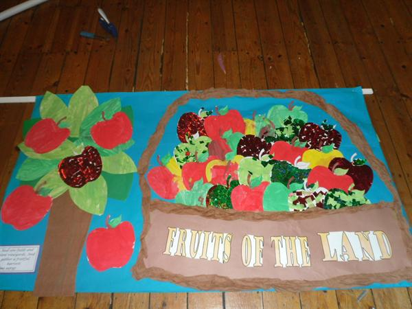 Look out for our harvest banner in the church!