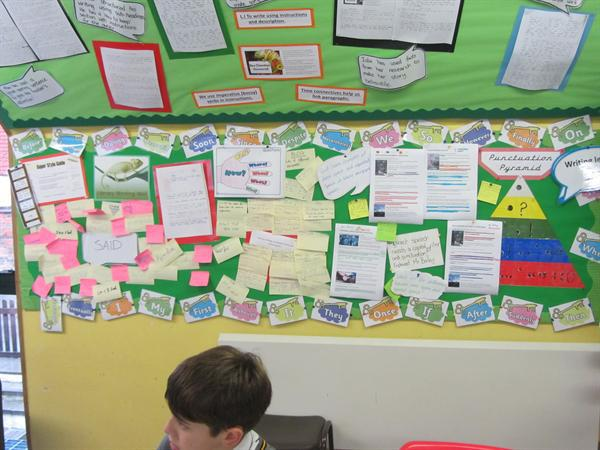 Our literacy working wall