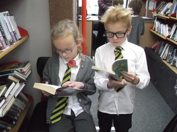 Getting straight into our new books!