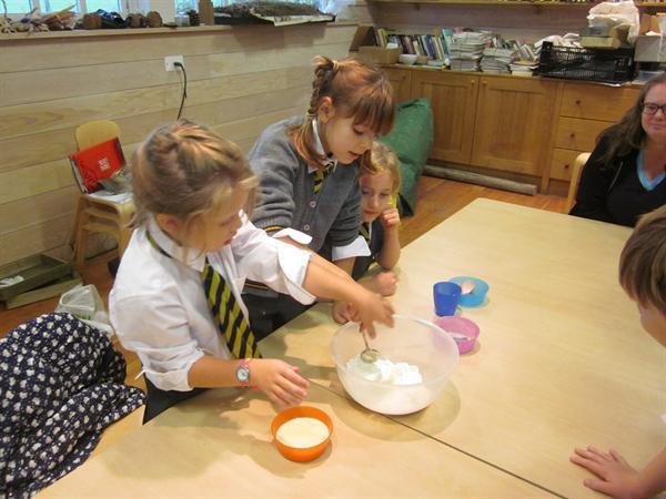Great Dixter - making pancakes