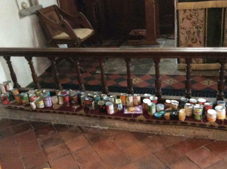 The food was donated to the Ashford food bank.