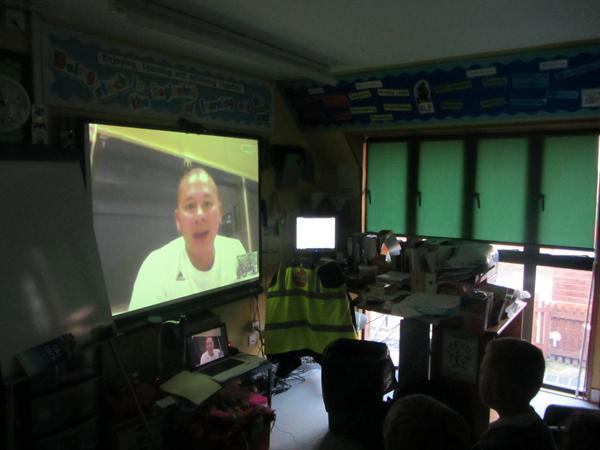 Chameleons Class interviewing Nino about Typhoon