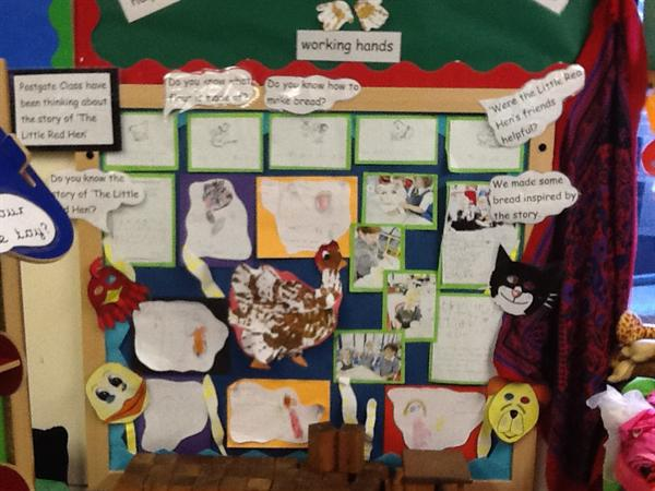 'The Little Red Hen' display