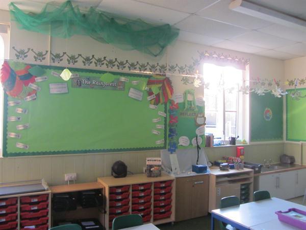 Rainforest topic board