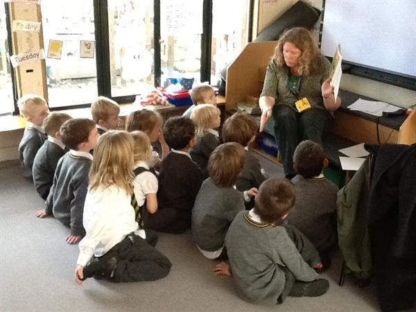 Miss Berry read us an exciting story in Book week.