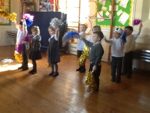 Dance work shop- fun with pom poms!