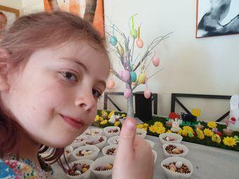 Seren doing some Easter baking