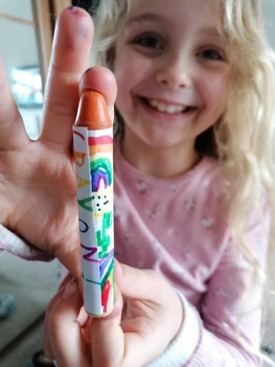 Phoebe's crayon wrapper