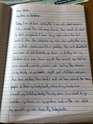 Finley W's fantastic free writing