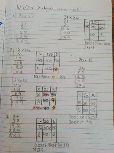 Tonaya's marvellous maths