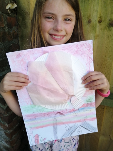 Mabel's beautiful balloon picture
