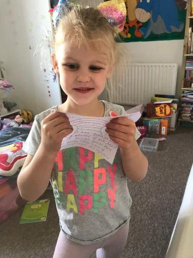Pearl pleased with her teacher's letter