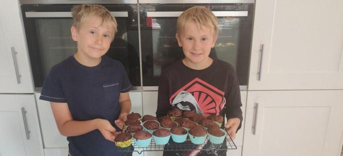 Alfie and Charlie the bakers!