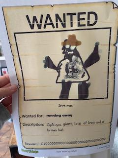 Olivia's super WANTED poster