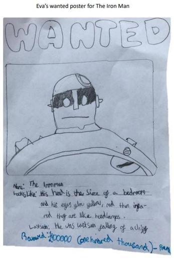 Eva's Iron Man WANTED poster