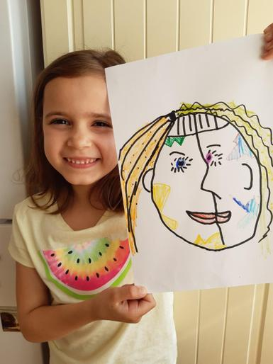 Isla's super self portrait!