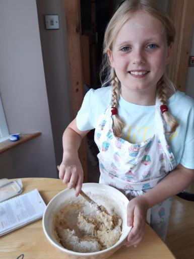 Neve busy baking!
