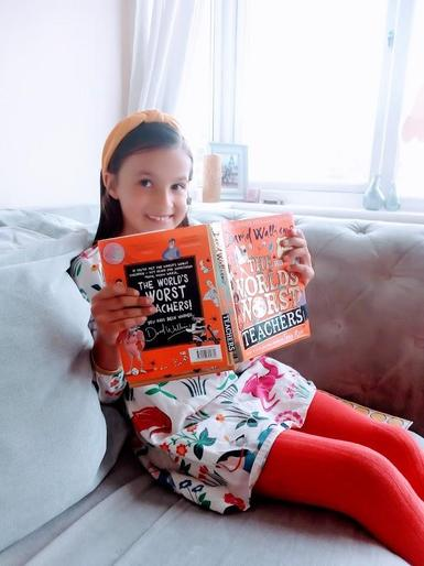 Amber reading @ home!