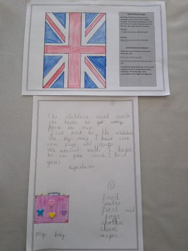 Rafaela's VE Day writing