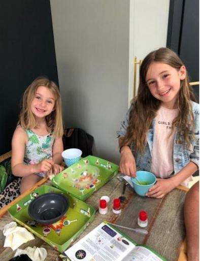 Maisy and Eva making slime!