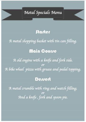 Eva's menu for how to trap an Iron Man