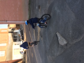 Bobby out on his bike!