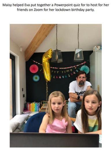 Maisy helped Eva organise a quiz for her birthday