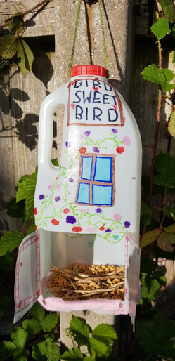 Emily's recycled bird feeder