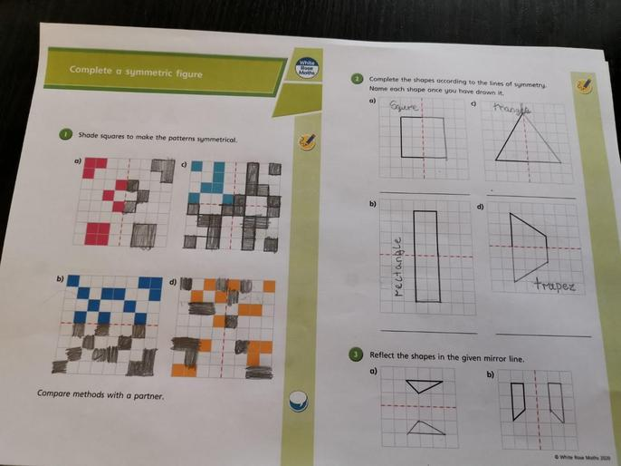 More maths from Oskar - he's worked so hard!