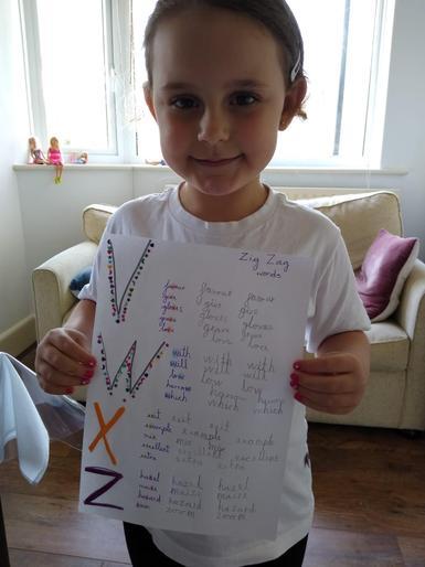 Rafaela and her superb handwriting!