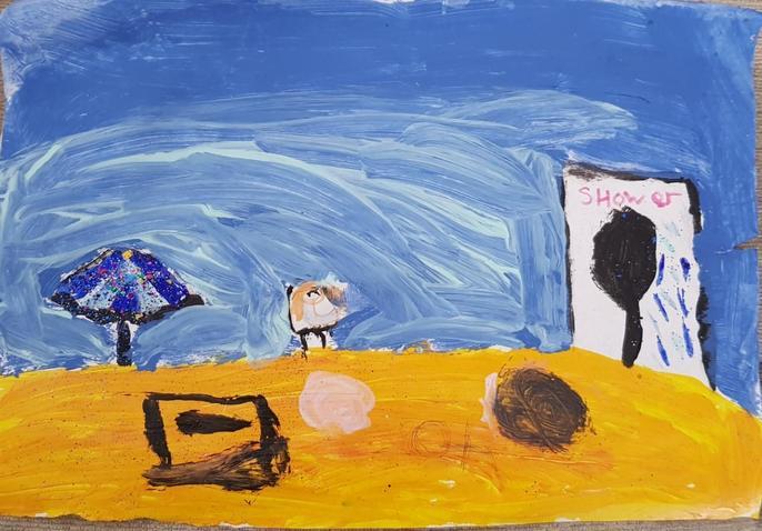 Emily's super beach painting
