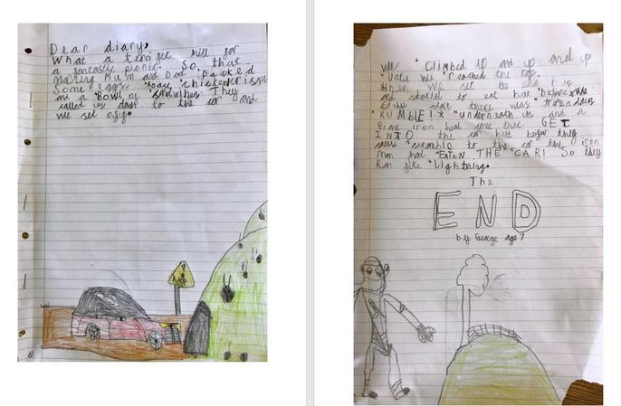 George's AMAZING diary entry!