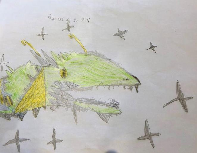 George's Space-Bat-Angel-Dragon - It's awesome!