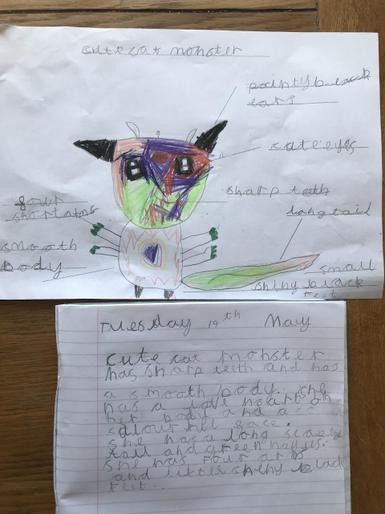 Bella's brilliant monster writing
